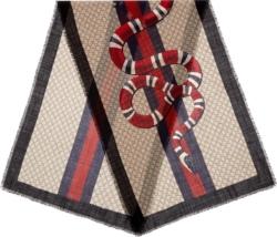 Gucci 'gg' Web & Kingsnake Scarf