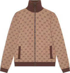 Gucci Beige And Brown Gg Track Jacket 572636 Xkakv 2094