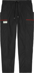 Black Coated Trackpants