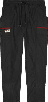 Gucci Black Coated Cargo Pants 604171 Xdbch 1043