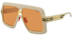 Gucci White And Orange Oversized Sunglasses Gg0900s