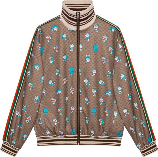 Gucci X Doraemon Beige Gg Track Jacket 654938 Xjdex 2138