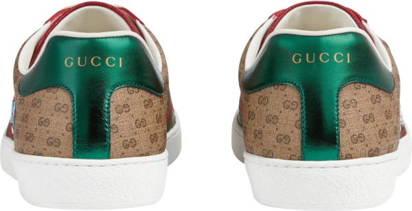 Gucci X Doraemon Beige Supreme Ace Sneakers