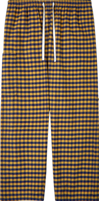 Gucci X Dover Street Market Yellow & Blue Check Pants