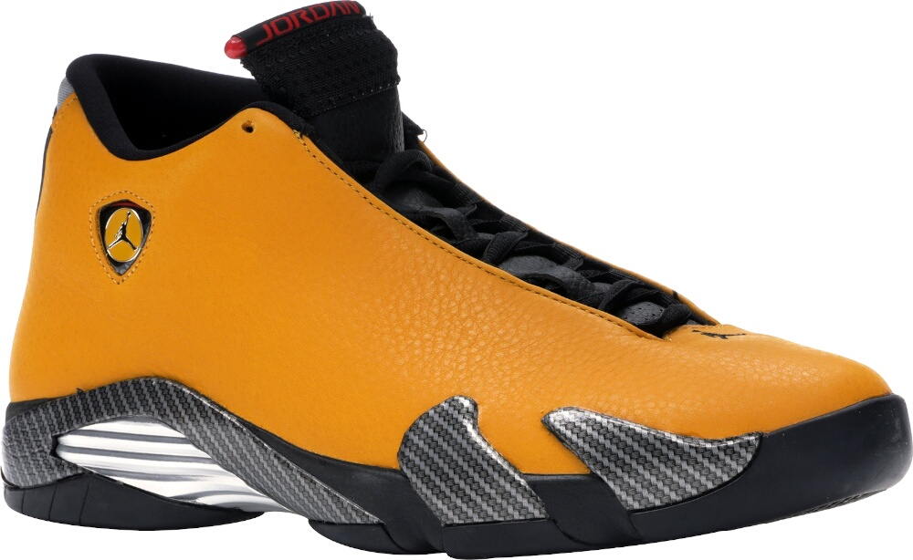 Jordan 14 Retro Ferrari 'University Gold'