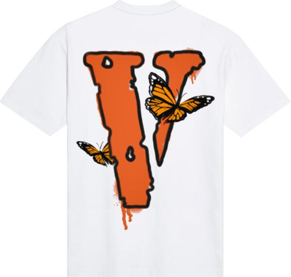 Juice Wrld X Vlone Butterfly T Shirt White