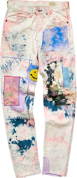 Kapital Tie Dye Patchwork Okabilly Gypsy Jeans