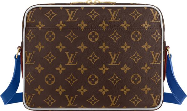 Lvxnba Brown Monogram 'nil' Messenger Bag