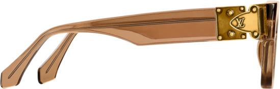 Lvxnba Brown Clear Square Sunglasses