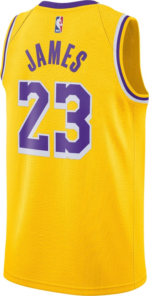 Los Angeles Lakers Lebron James Nike Gold Swingman Jersey