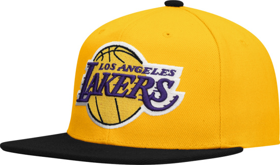 Los Angeles Lakers Mitchell & Ness Hardwood Classics Core Snapback Hat