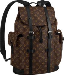 Brown Monogram 'Christopher' Backpack
