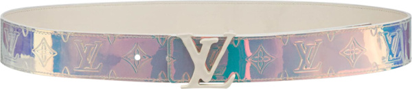 Louis Vuitton Iridescent 'shape' Belt