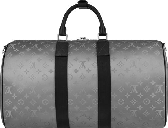 Louis Vuitton Keepall Bandouliere Monogram Satellite 50 Silver'