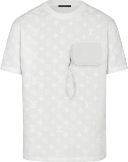 Louis Vuitton White Hook And Loop Monogram T Shirt 1a7qdm