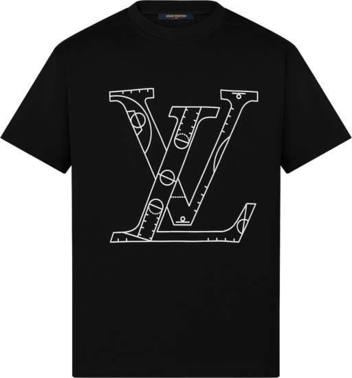 Louis Vuitton X Nba Black Basketball Play T Shirt 1a8x0w