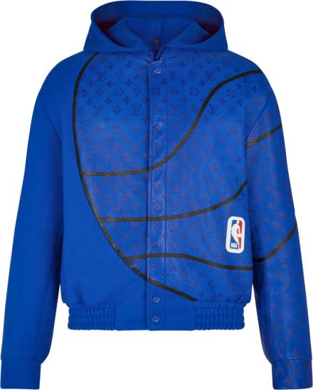 Louis Vuitton X Nba Blue Basketball Jacket 1a8gwo