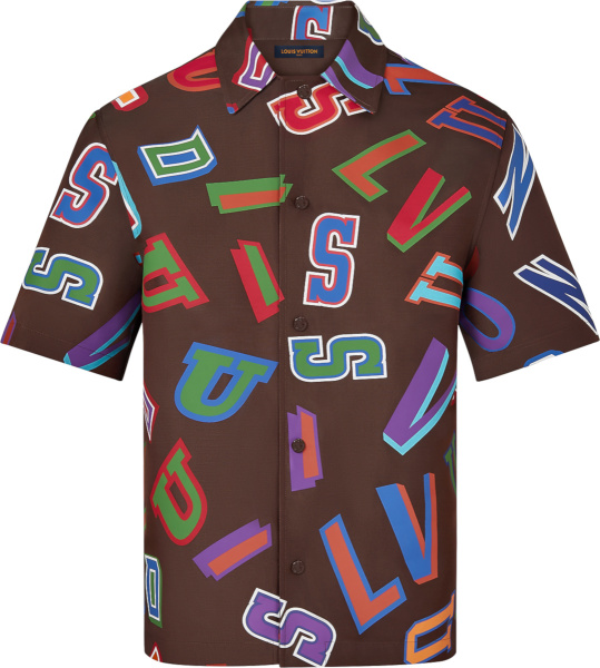 Louis Vuitton X Nba Brown Basketball Letters Shirt 1a8wqs