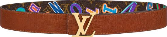 Louis Vuitton X Nba Brown Letters Lv Initiales Belt