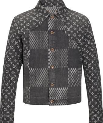 Louis Vuitton X Nigo Black Giant Damier Denim Jacket