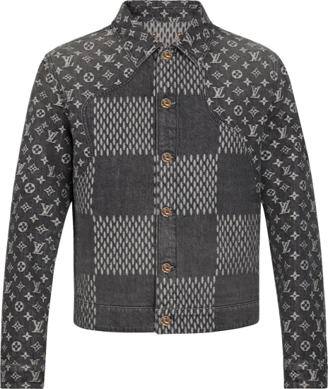 Louis Vuitton X Nigo Black Giant Damier Denim Jacket
