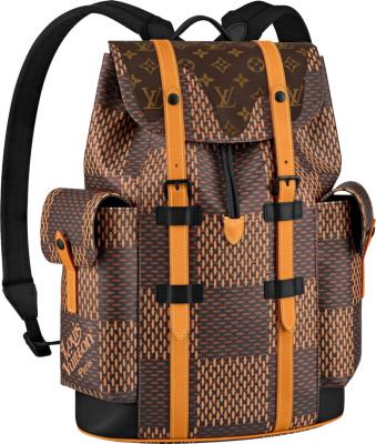 Louis Vuitton X Nigo Christopher Backpack Damier Ebene Giant Pm Brown