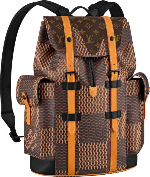 Louis Vuitton X Nigo Christopher Backpack Damier Ebene Giant Pm Brown