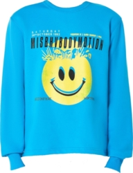 Misbhv X H Lorenzo Body Motion Blue Sweatshirt