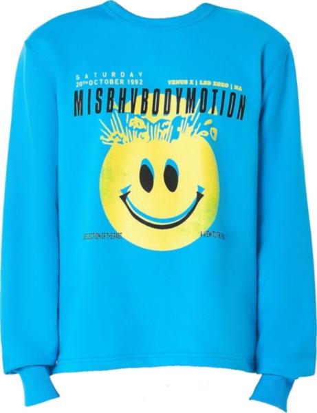 Misbhv X H Lorenzo Body Motion Blue Sweatshirt
