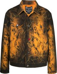Mjb Marc Jacques Burton Orange Black Tie Dye Jacket