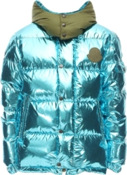 Metallic Blue Prele Puffer Jacket