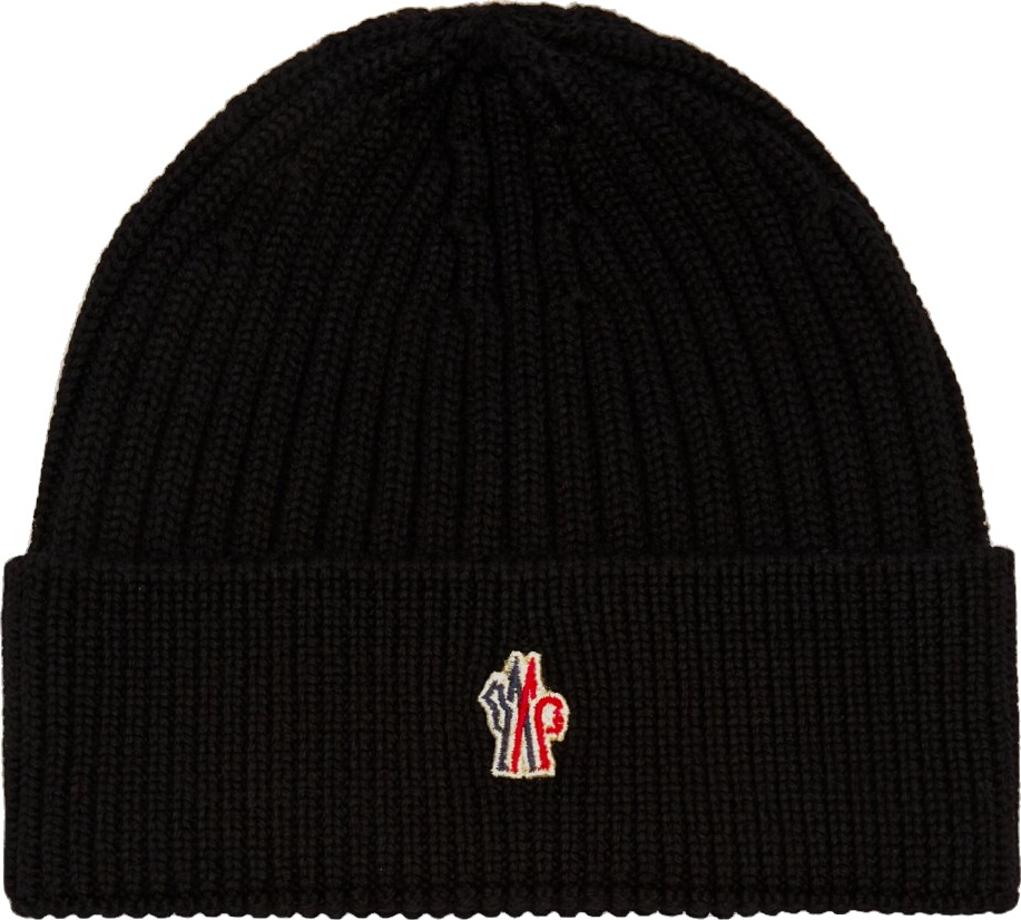 Moncler Grenoble Black Wool Beanie