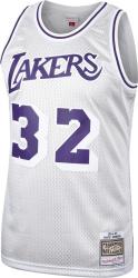 Magic Johnson Los Angeles Lakers Mitchell & Ness Hardwood Classics Platinum Swingman Jersey