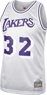 Magic Johnson Los Angeles Lakers Mitchell & Ness Hardwood Classics Platinum Swingman Jersey