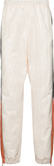 Marine Serre White, Black, & Orange Moire Trackpants