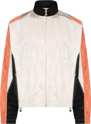 Marine Serre White, Black, & Orange Moire Track Jacket