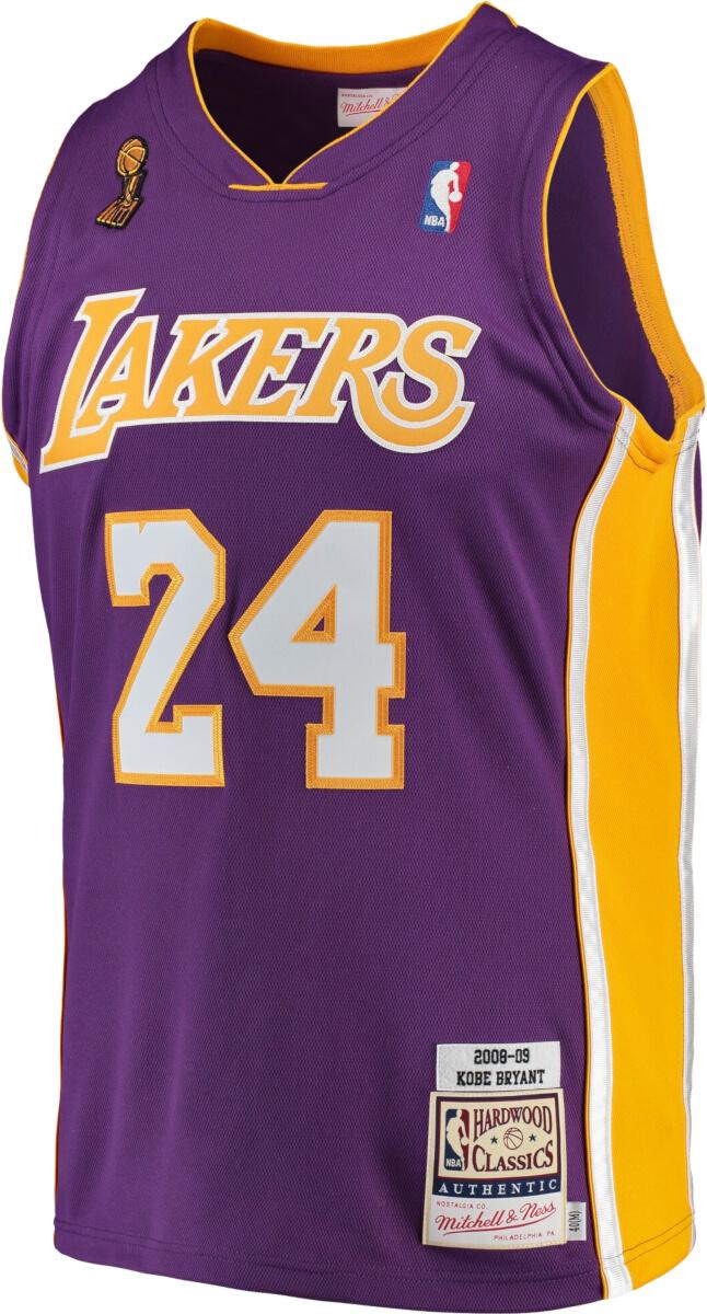 Mitchell & Ness 2008-09 L.A. Lakers #24 Kobe Bryant Purple Jersey ...