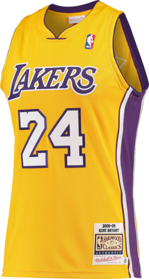 Mitchell & Ness 2008 09 La Lakers Yellow Kobe Bryant Jersey