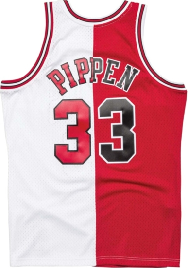 new style e37a0 ecedc Mitchell & Ness Scottie Pippin Chicago Bulls Split Home ...