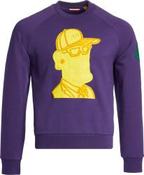 Moncler X Valextra Purple Sweatshirt