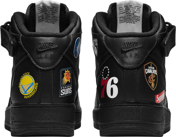 Nike Air Force 1 Mid Supreme Nba Black
