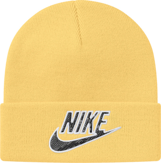 Nike X Supreme Pale Yellow Beanie