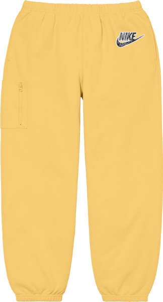 Nike X Supreme Pale Yellow Cargo Sweatpants