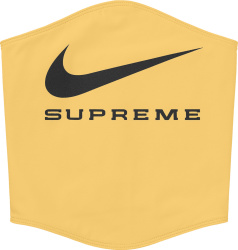 Nike X Supreme Pale Yellow Neck Warmer