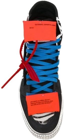 Off Court 3.0 Hi Top Zebra Print Sneakers