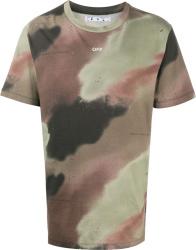 Brown & Green Camo Stencil-Logo T-Shirt