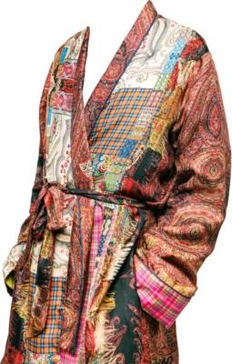 Pierre Louis Mascia Paisley Patchwork Robe
