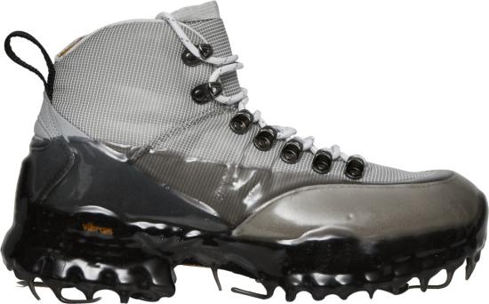 Roa Grey And Black Drip Andreas Boots