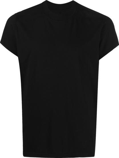 Rick Owens Drkshdw Quarter Sleeve Black T Shirt