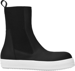 Rick Owens Drkshdw Black Leather Slip On Boots